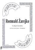 Ok�adka: �arejko Romuald, Lulaj�e Jezuniu na 3 skrzypiec i fortepian (partytura + g�osy)