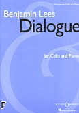 Ok�adka: Lees Benjamin, Dialogue for Cello and Piano