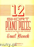 Okładka: Krenek Ernst, 12 Short Piano Pieces