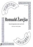 Okładka: Żarejko Romuald, Anioł pasterzom mówił na 3 skrzypiec (partytura)