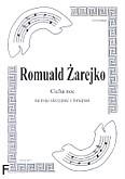 Ok�adka: �arejko Romuald, Cicha noc (partutura + g�osy)