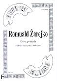 Okładka: Żarejko Romuald, Gore gwiazda na 3 skrzypiec i fortepian (partytura + głosy)