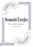 Okładka: Żarejko Romuald, Hej, w dzień narodzenia na 3 skrzypiec (partytura)