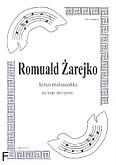 Okładka: Żarejko Romuald, Jezus malusieńki (partytura)