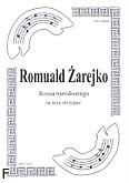 Okładka: Żarejko Romuald, Jezusa narodzonego na 3 skrzypiec (partytura)