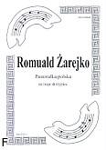 Okładka: Żarejko Romuald, Pastorałka polska na 3 skrzypiec (partytura + głosy)