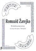 Okładka: Żarejko Romuald, Wśród nocnej ciszy na 3 skrypiec i fortepian (partytura)