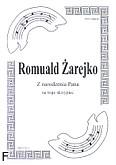 Ok�adka: �arejko Romuald, Z narodzenia Pana na 3 skrzypiec (partytura)
