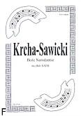 Okładka: Krcha Bartłomiej, Sawicki Wojciech, Boże Narodzenie na chór SATB