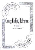 Okładka: Telemann Georg Philipp, Sonata 1 na flet i klarnet B