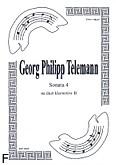 Ok�adka: Telemann Georg Philipp, Sonata 4 na duet Cl-Cl