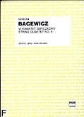 Okładka: Bacewicz Grażyna, VI kwartet smyczkowy (partytura + głosy)