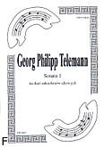 Okładka: Telemann Georg Philipp, Sonata 1 na duet saksofonów altowych