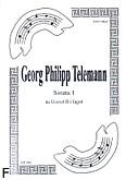 Ok�adka: Telemann Georg Philipp, Sonata 1 na duet Cl.-Fg