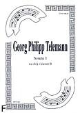 Ok�adka: Telemann Georg Philipp, Sonata 1 na ob�j i klarnet B
