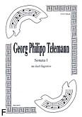 Okładka: Telemann Georg Philipp, Sonata 1 na duet Fg-Fg