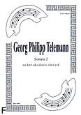 Ok�adka: Telemann Georg Philipp, Sonata 2 na duet saksofon�w altowych