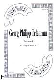 Okładka: Telemann Georg Philipp, Sonata 4 na obój i klarnet B