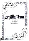 Okładka: Telemann Georg Philipp, Sonata 5 na duet Fg-Fg