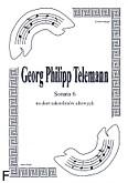 Okładka: Telemann Georg Philipp, Sonata 6 na duet saksofonów altowych