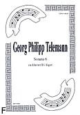 Ok�adka: Telemann Georg Philipp, Sonata 6 na duet Cl.-Fg