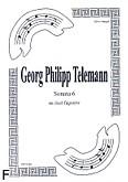 Okładka: Telemann Georg Philipp, Sonata 6 na duet Fg-Fg