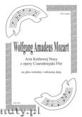 Okładka: Mozart Wolfgang Amadeusz, Aria Królowej Nocy z operetki Czarodziejski Flet na orkiestrę dętą (partytura) ar. Janiszewski Wacław