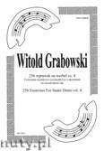 Okładka: Grabowski Witold, 256 wprawek na werbel cz. 4. Ćwiczenia ósemkowo - szesnastkowe z akcentami na niezależność rąk.