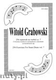 Okładka: Grabowski Witold, 256 wprawek na werbel cz. 7. Ćwiczenia ósemkowo - szesnastkowe z akcentami na niezależność rąk.