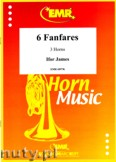 Okładka: Ifor James, 6 Fanfares for 3 Horns (score and parts)