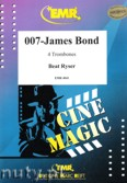 Ok�adka: , 007 - James Bond for 4 Trombones (score and parts)