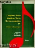 Okładka: Skriabin Aleksander, Complete Works 4 Poemes & Impromptus for piano