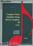 Ok�adka: Skriabin Aleksander, Complete Works 3 - Etudes - piano