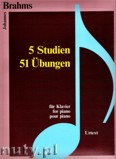 Ok�adka: Brahms Johannes, 5 Studien, 51 �bungen f�r Klavier