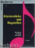 Okładka: Beethoven Ludwig van, Klavierstücke und Bagatellen für Klavier