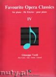 Ok�adka: Verdi Giuseppe, Favourite Opera Classics 4 for piano