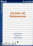 Okładka: Bach Johann Sebastian, Ich hatte viel Bekummernis, BWV 21 - Klavierauszug