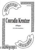 Okładka: Kreutzer Conradin, Allegro na kwartet smyczkowy (partytura + głosy)