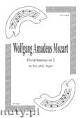 Okładka: Mozart Wolfgang Amadeusz, Divertimento nr 2 na flet, obój i fagot (partytura + głosy)