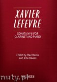 Okładka: Lefevre Jean Xavier, Sonata No. 6 for Clarinet and Piano