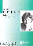 Okładka: Lejet Edith, Jade pour saxophone alto et percussion