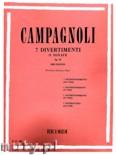 Okładka: Campagnoli Bartolomeo, 7 Divertimenti O Sonate, Op. 18 (Violin)