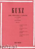 Ok�adka: Kunz Konrad M., 200 Piccoli Canoni A Due Parti, Op. 14