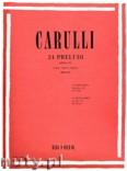 Okładka: Carulli Ferdinando, 24 Preludi per Chitarra dall'Op. 114