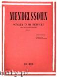 Okładka: Mendelssohn-Bartholdy Feliks, Sonata in mi bemole