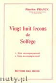 Okładka: Franck Melchior, 28 Lecons Solfege Sans Piano (Lessons)