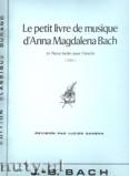 Okładka: Bach Johann Sebastian, Petit Livre de musique d'Anna Magdalena Bach