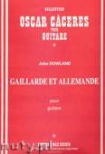 Ok�adka: Dowland John, Galliarde Et Allemande pour guitare