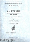 Okładka: Kayser Heinrich Ernst, 36 Etudes, Vol. 3