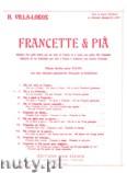 Okładka: Villa-Lobos Heitor, Francette Et Pia No. 2 (Pia a vu Francette)